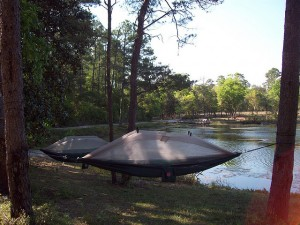 Hammock Tents Hanging at Anderson Pond, Niceville.