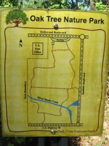 Map of Oak Tree Nature Park in Mary Esther, Florida