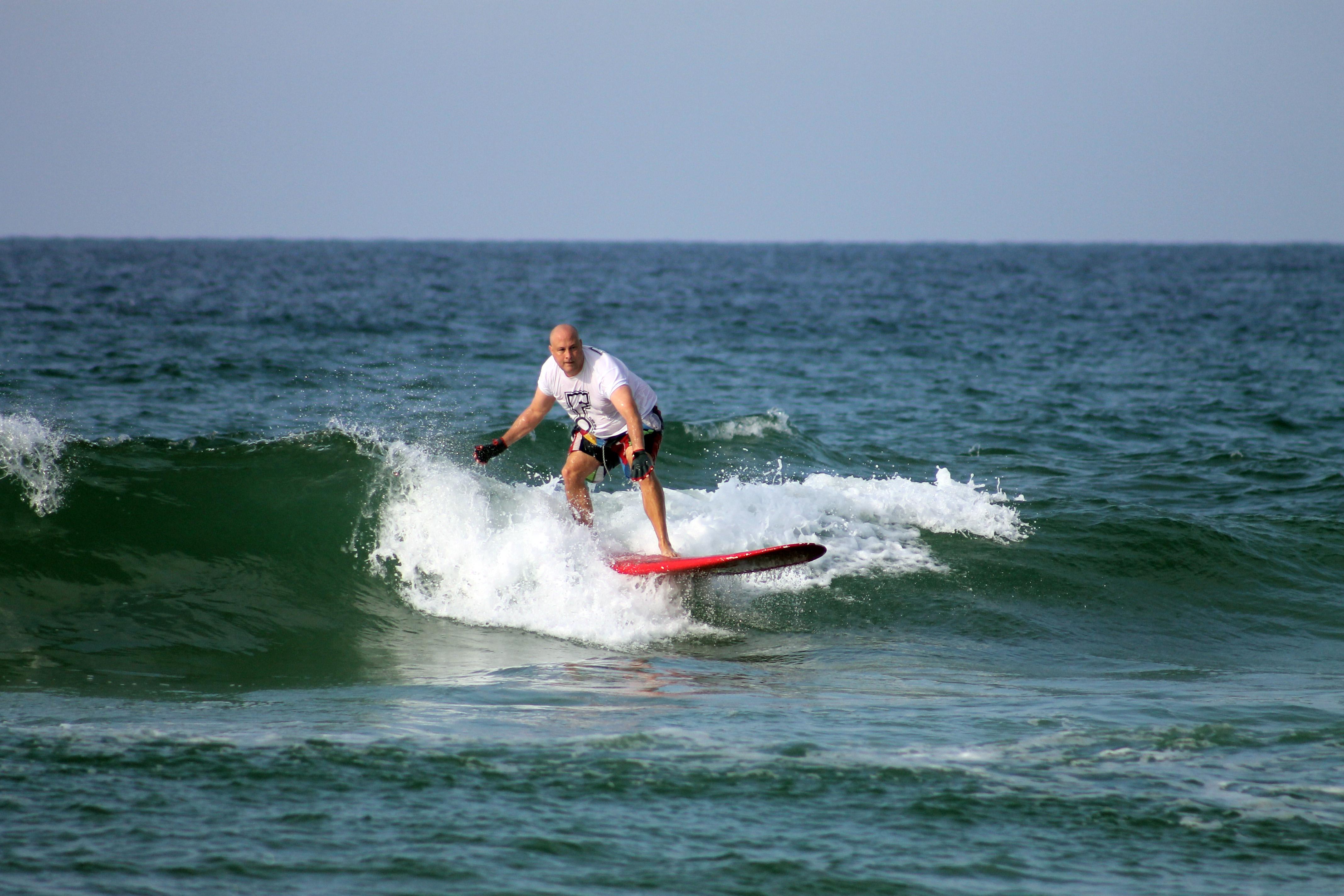 Surfing and Paddle Boarding on Okaloosa Island   Northwest Florida