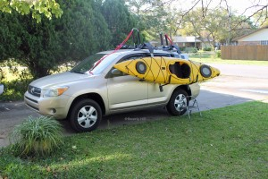 Place the kayak into the cradle.
