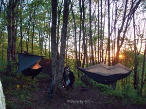 Hammock tents on the Appalachian trail