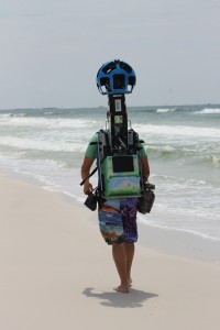 Rear View of the Google Trekker 360 Degree Panoramic Camera