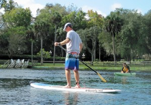 Paddleboarder at Silver Springs