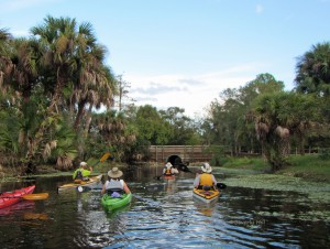 A group of paddlers set off from River Bend Park on the Loxahatchee River