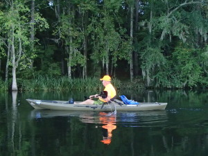 Kayaking on Lake Seminole.