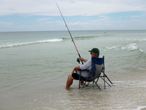 Surf fishing in the Gulf