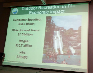 Slide Showing Economic Impacts in Florida