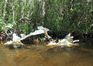 Old plane wreckage in Rocky Creek
